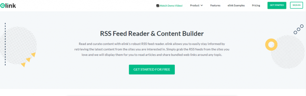 Elink.io: Feedly alternative