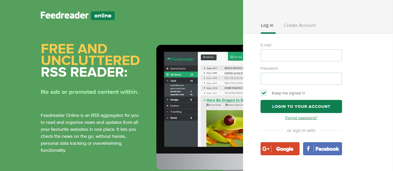 Feedreader: Feedly alternative