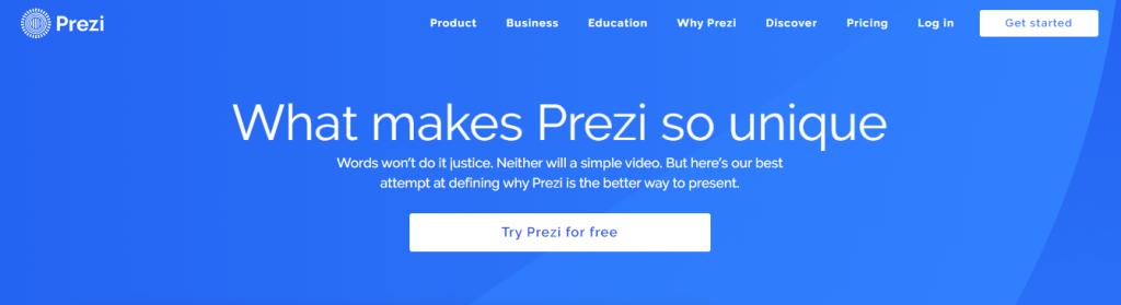 Prezi: Online education tool for teachers