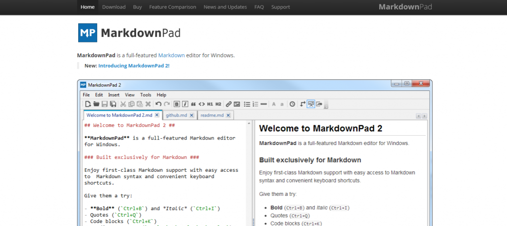 Markdownpad: Technical writing tool
