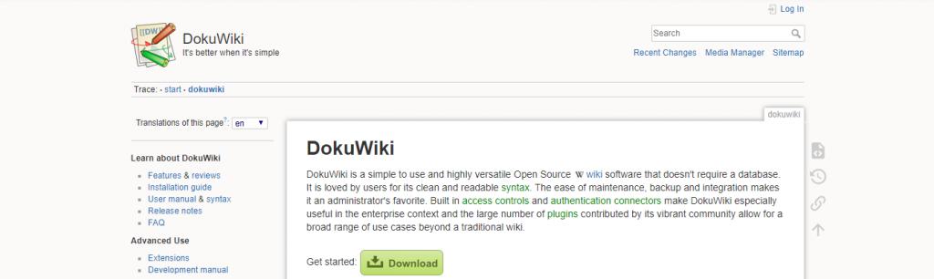 Dokuwiki: Wiki tool