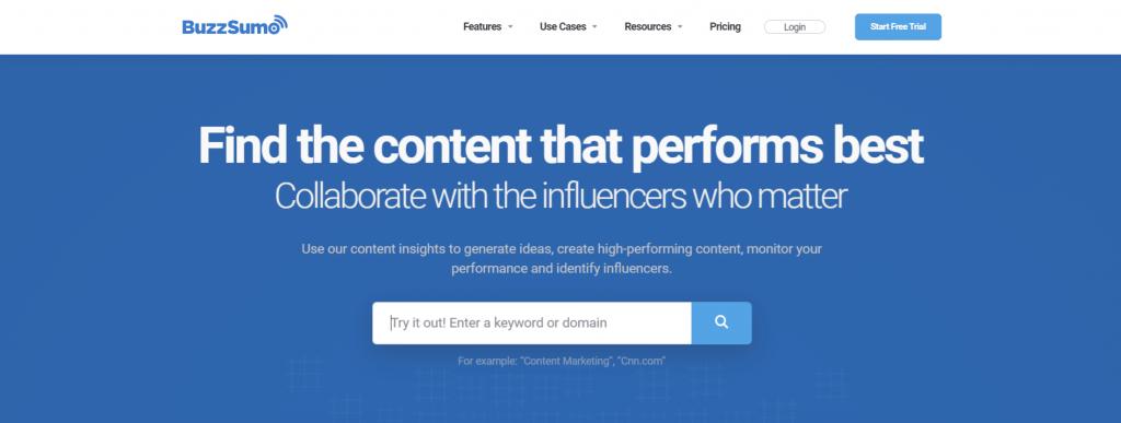 Buzzsumo: Content aggregator tool