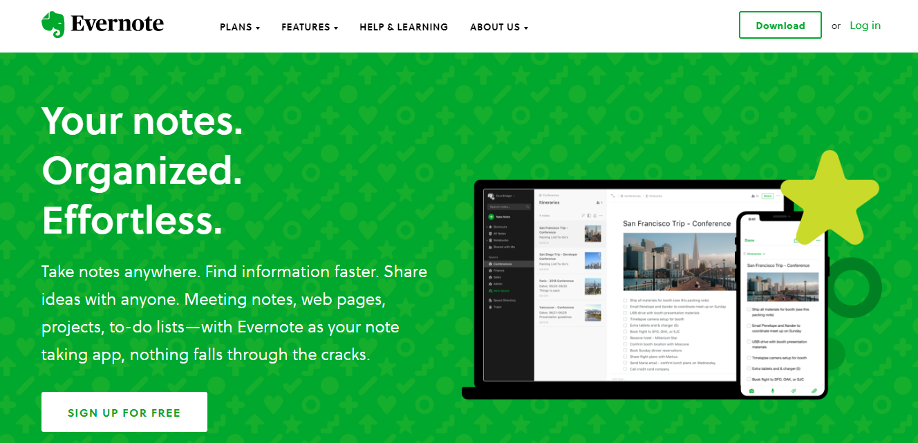 Evernote web clipper: Collaborative bookmarking tools