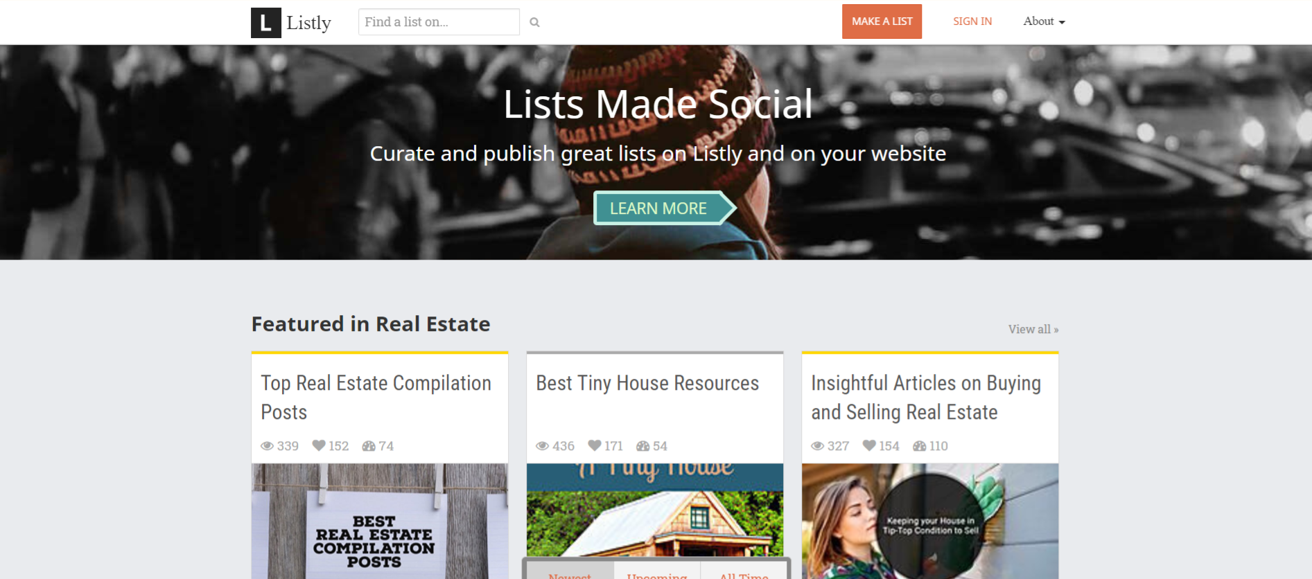 Listly: Content aggregator tool