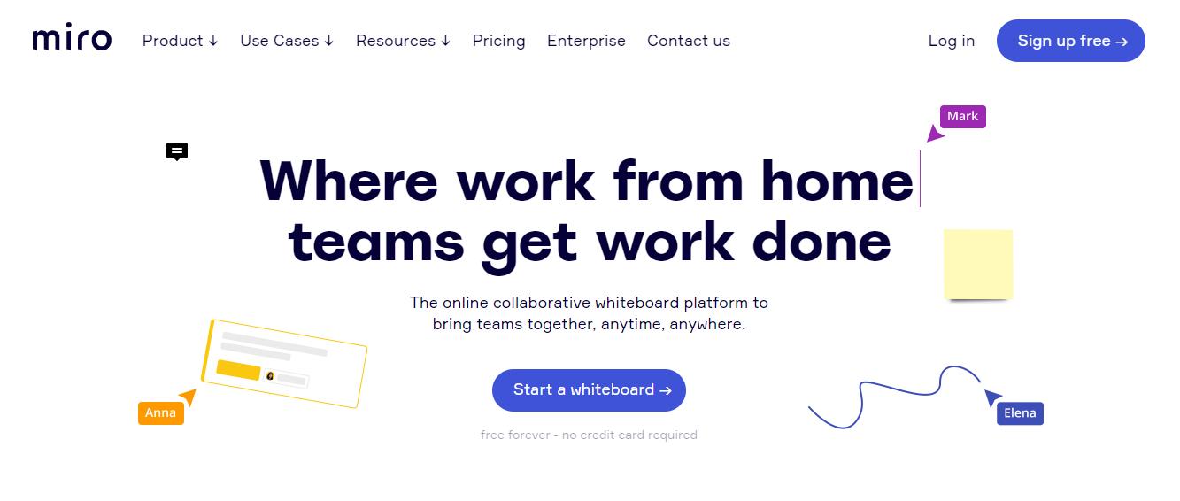 Miro: Content collaboration tool