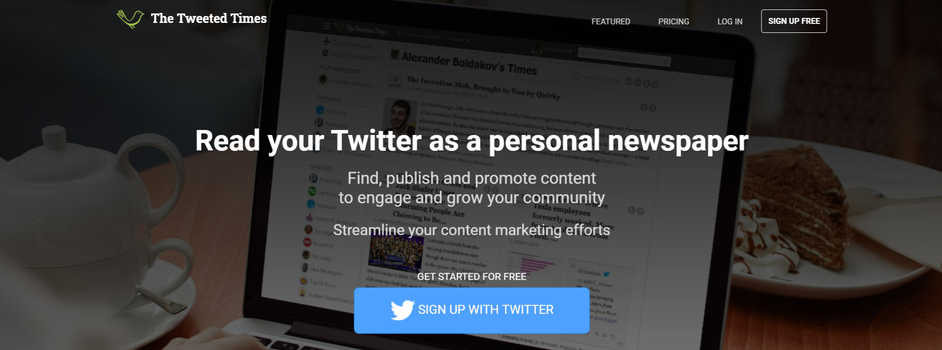 Tweeted times: Content aggregator tool