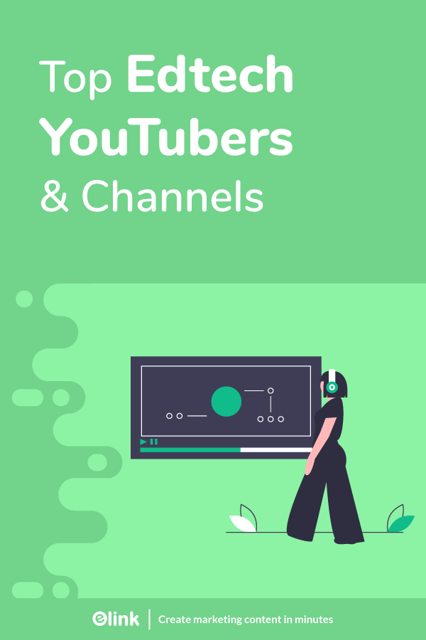 Top ed tech youtubers and channels - pinterest