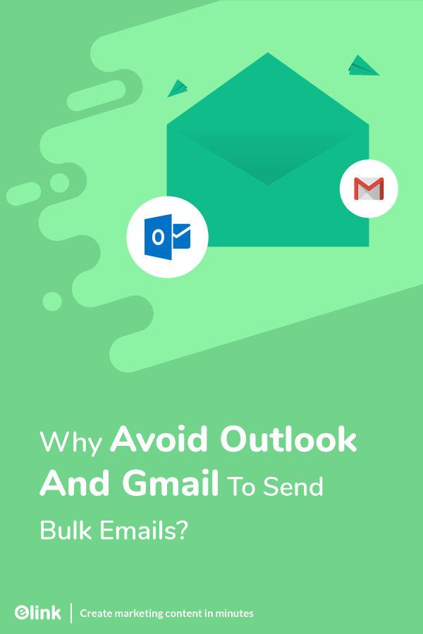 Avoid gmail and outlook to send bulk emails - pinterest