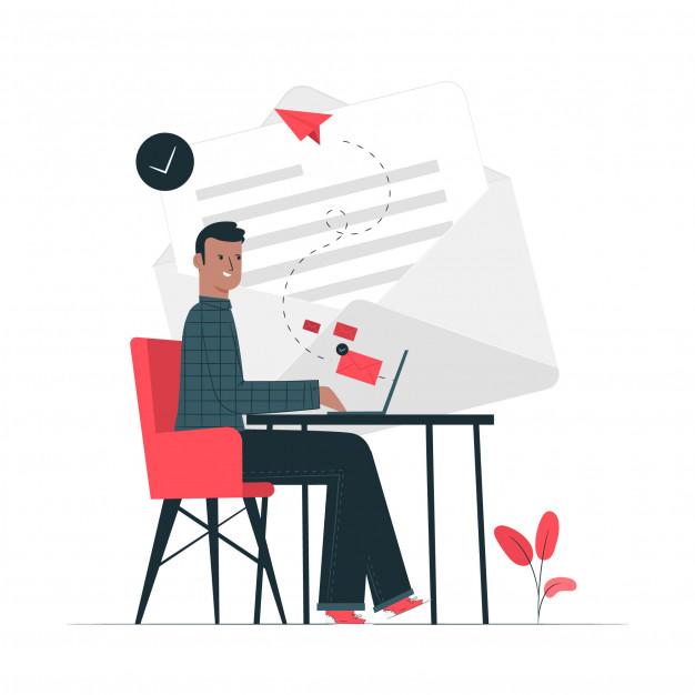 A marketer sending bulk emails