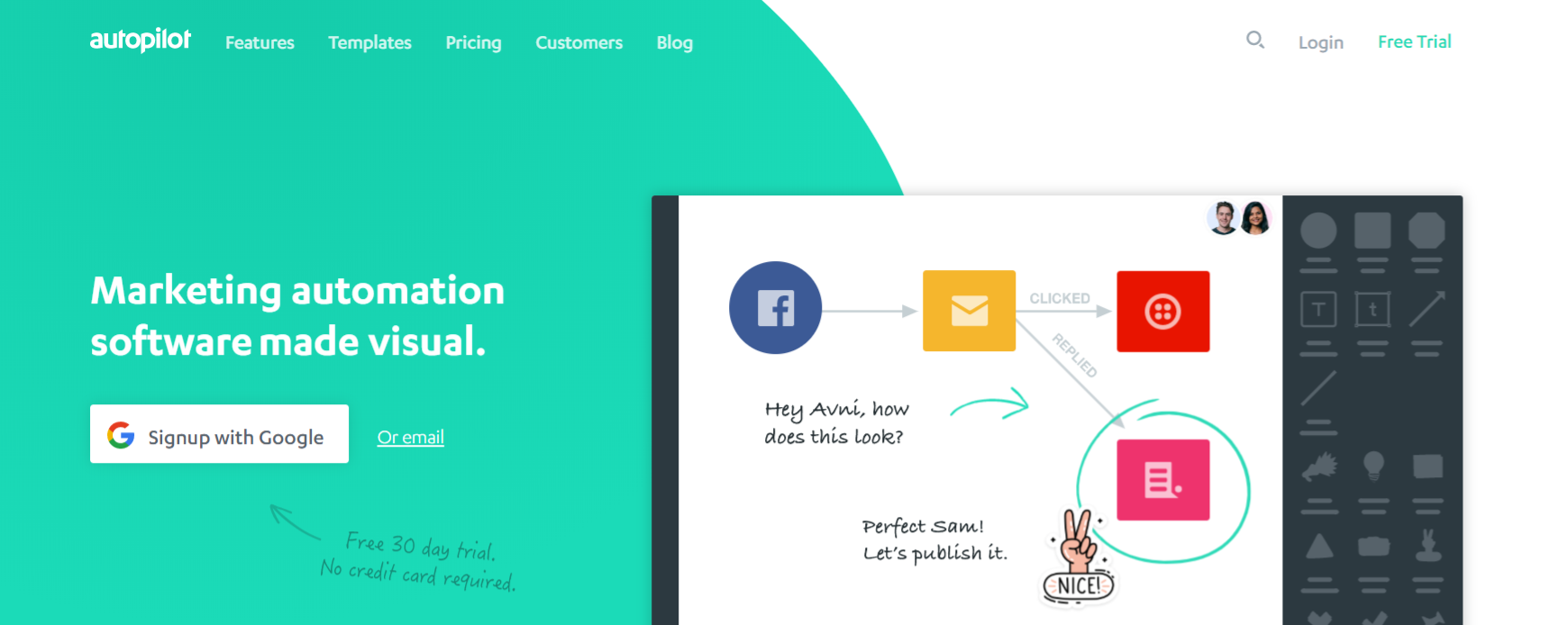Autopilot: Online marketing automation tool