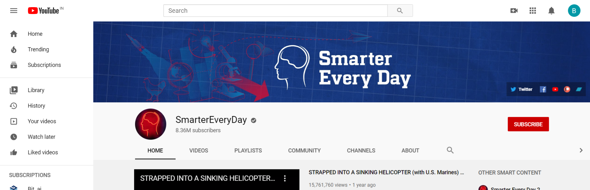 Smarter everyday: Edtech youtube channel
