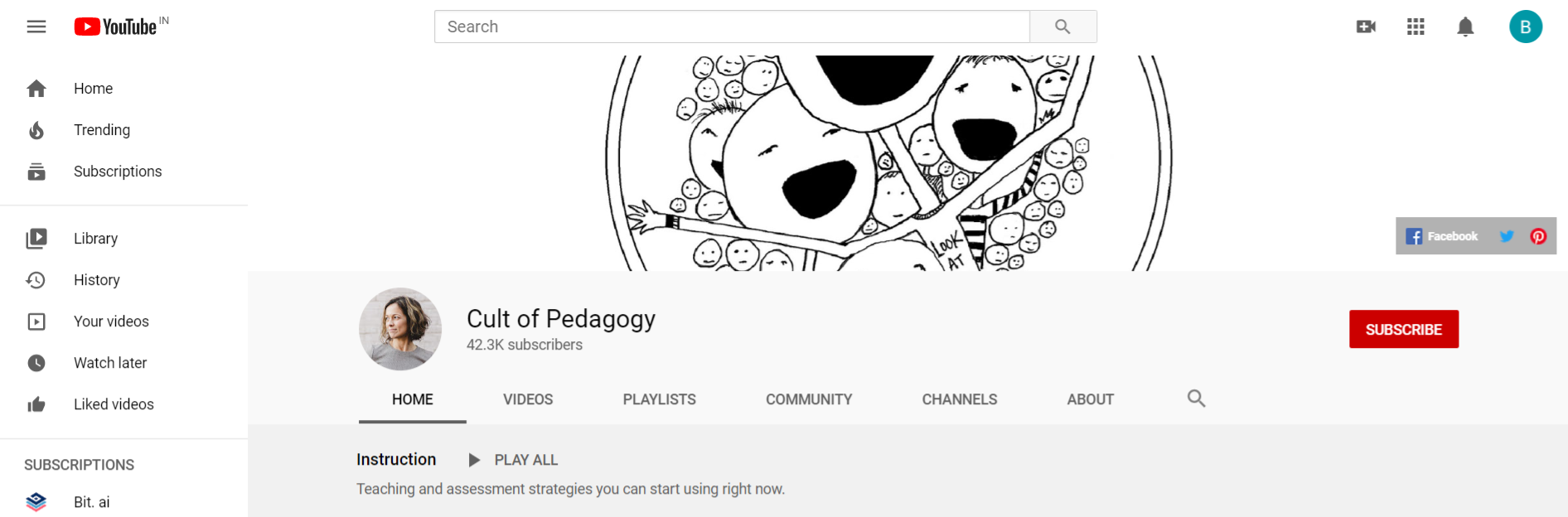 Cult of pedagogy: edtech youtube channel