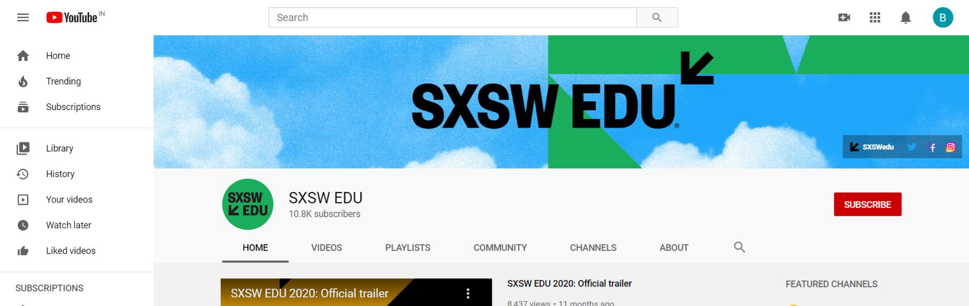 Sxsw edu: edtech youtube channel