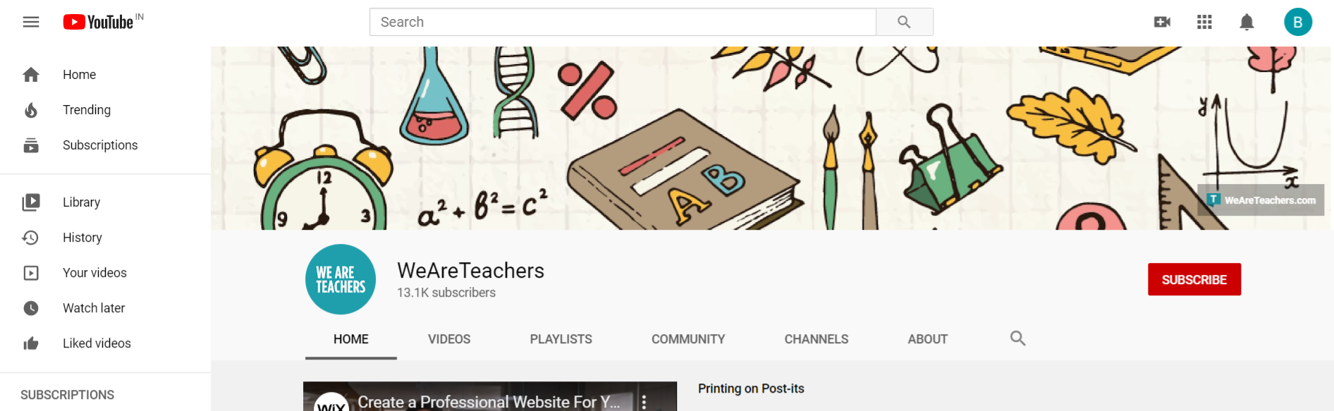 We are teachers: edtech youtube channel