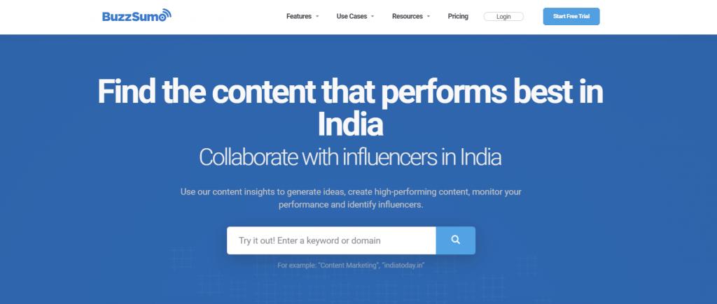 Buzzsumo: Content generator tool