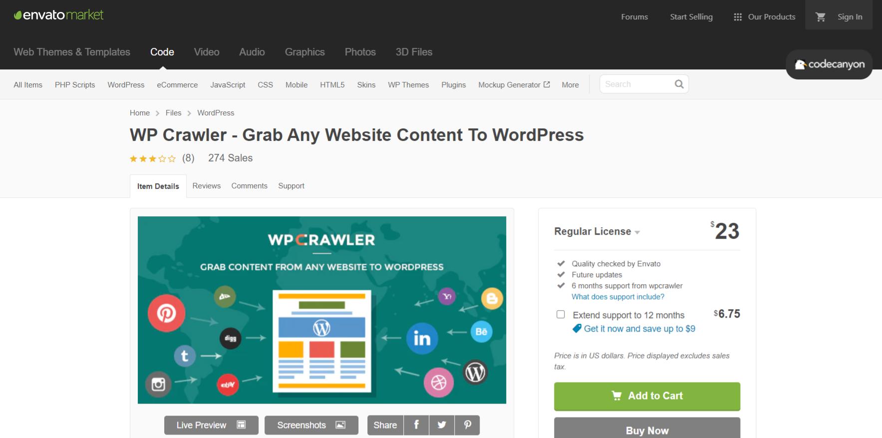 Wp Crawler: Autoblogging plugin and tool