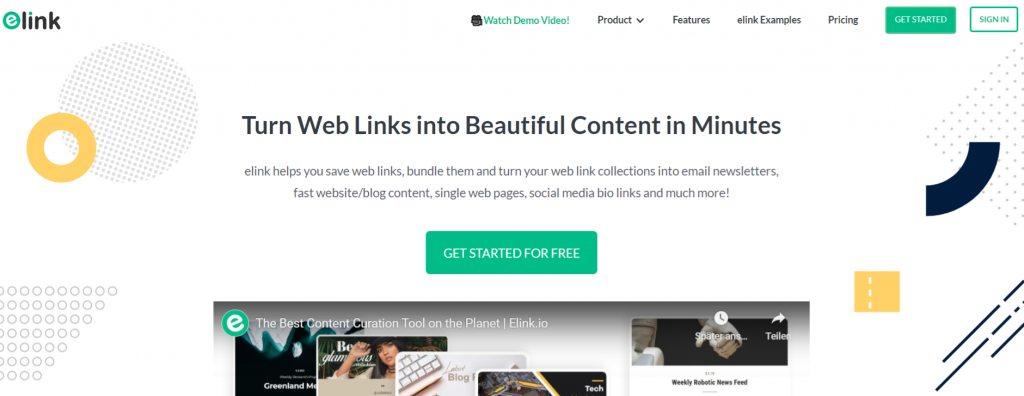 Elink.io: Email marketing service software