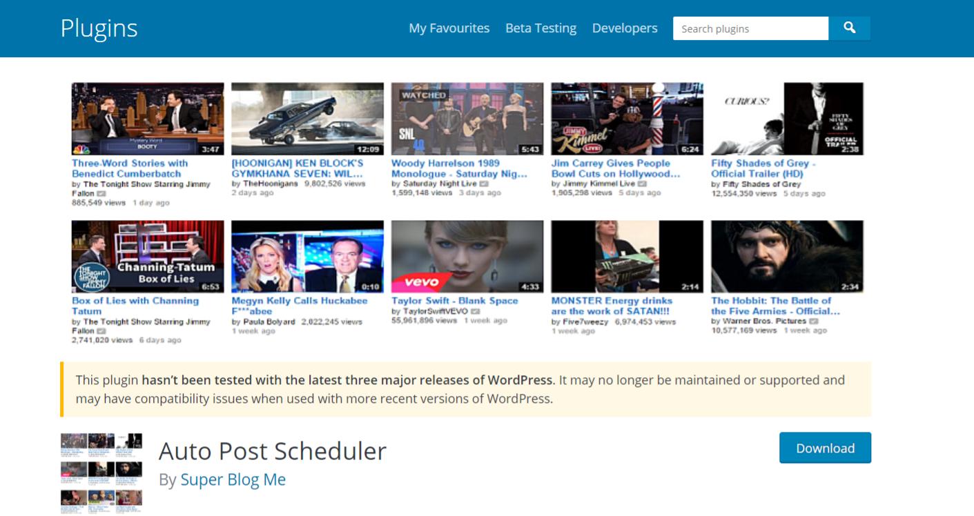 Auto post scheduler: Autoblogging plugin and tool