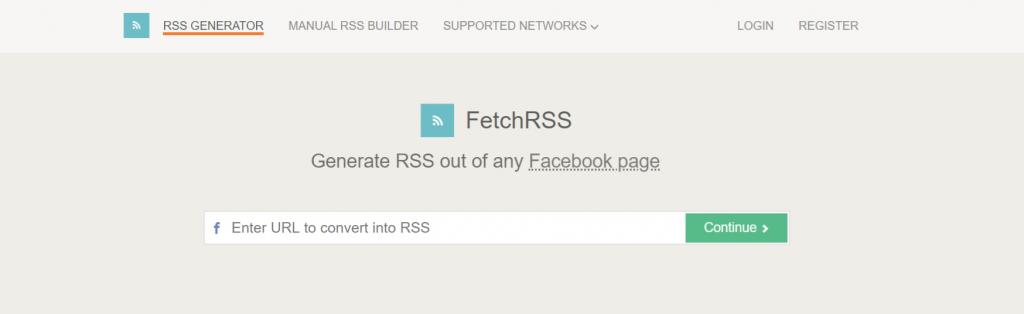 FetchRSS: Rss feed generator
