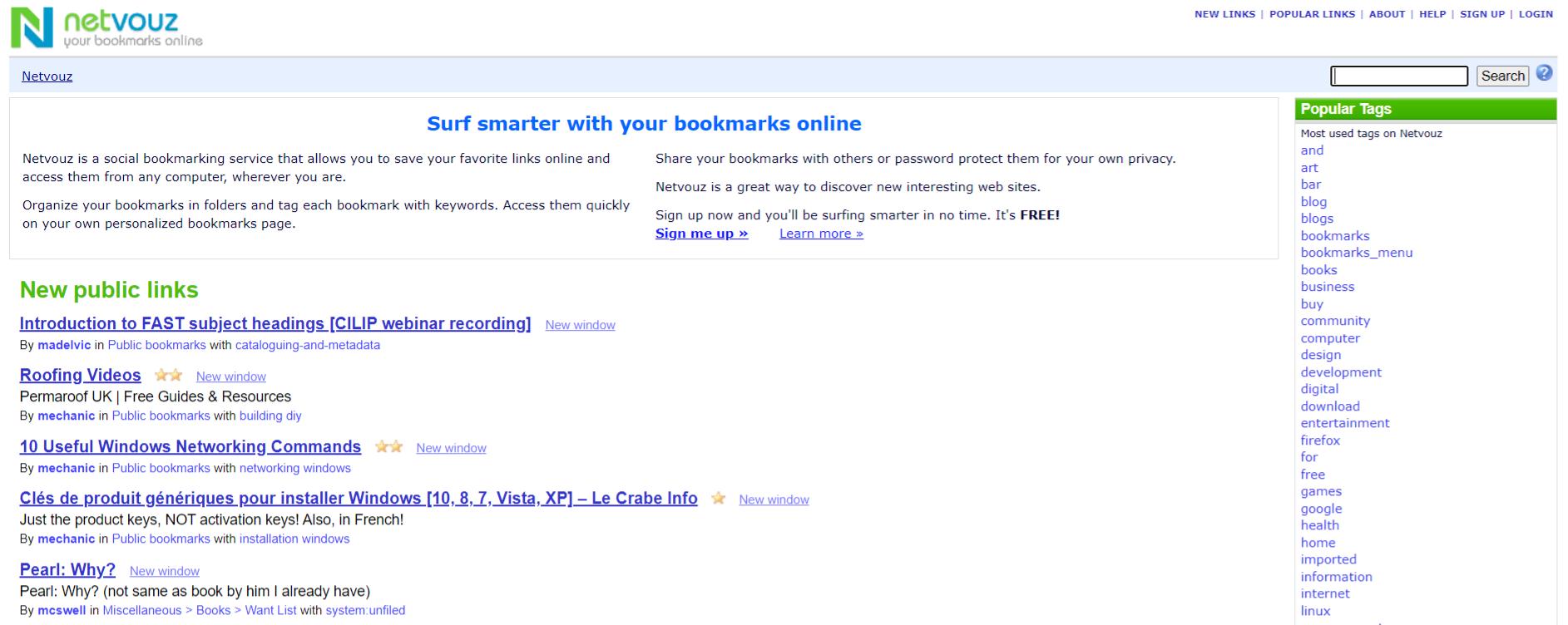 Netvouz: Collaborative bookmarking tools