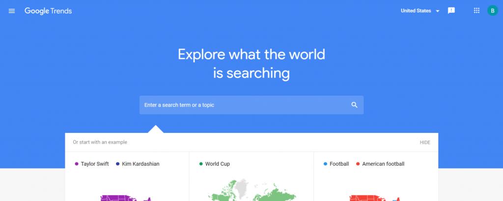 Google trends: Content generator tool