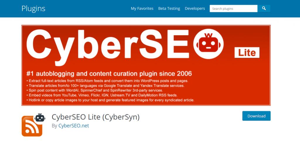 Cybersyn: Autoblogging plugin and tool