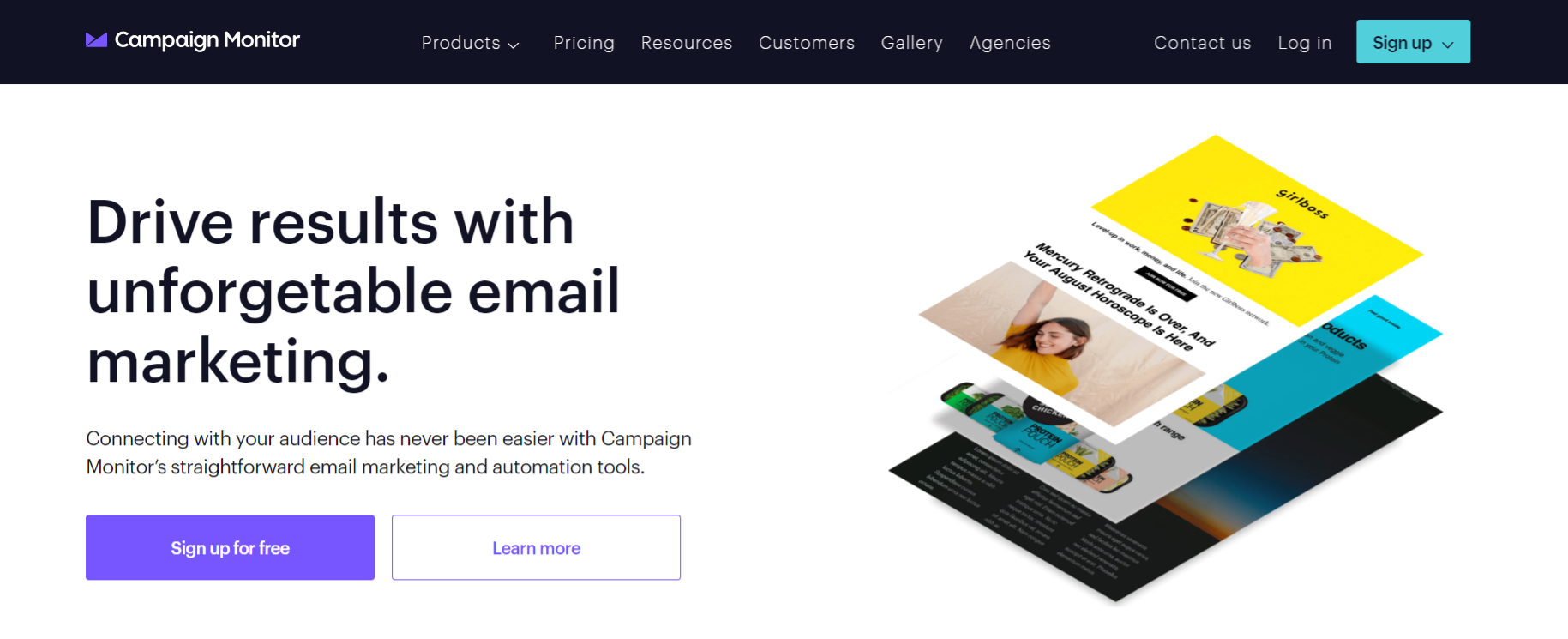 Campaign monitor: Email marketing software