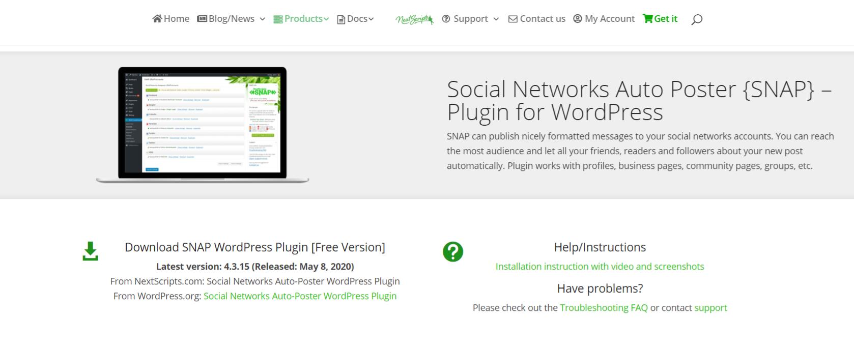 Nextscripts snap: Autoblogging plugin and tool