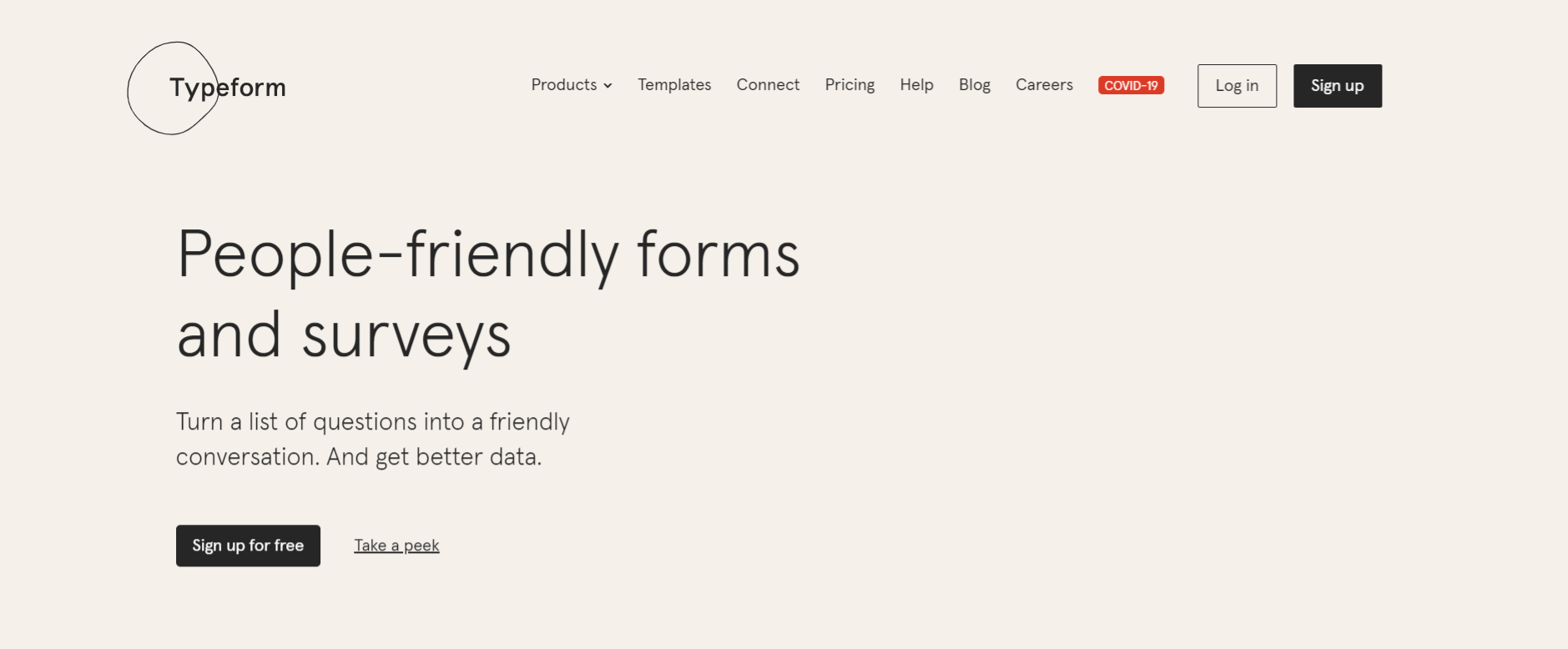 Typeform: Business marketing tool