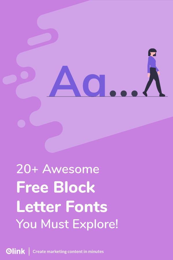 Free block letter fonts - pinterest