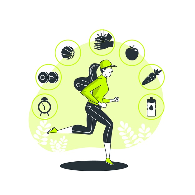 A girl doing exercise