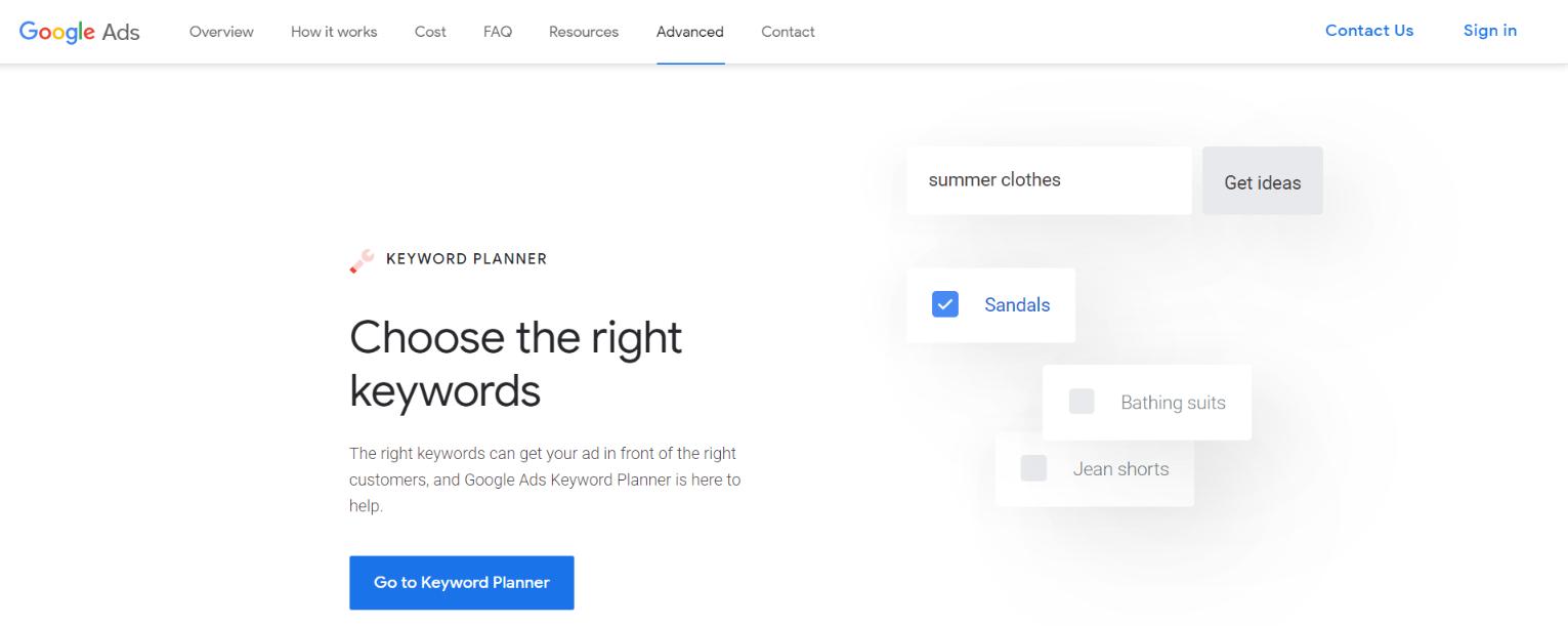 Google keyword planner Tool for blogging