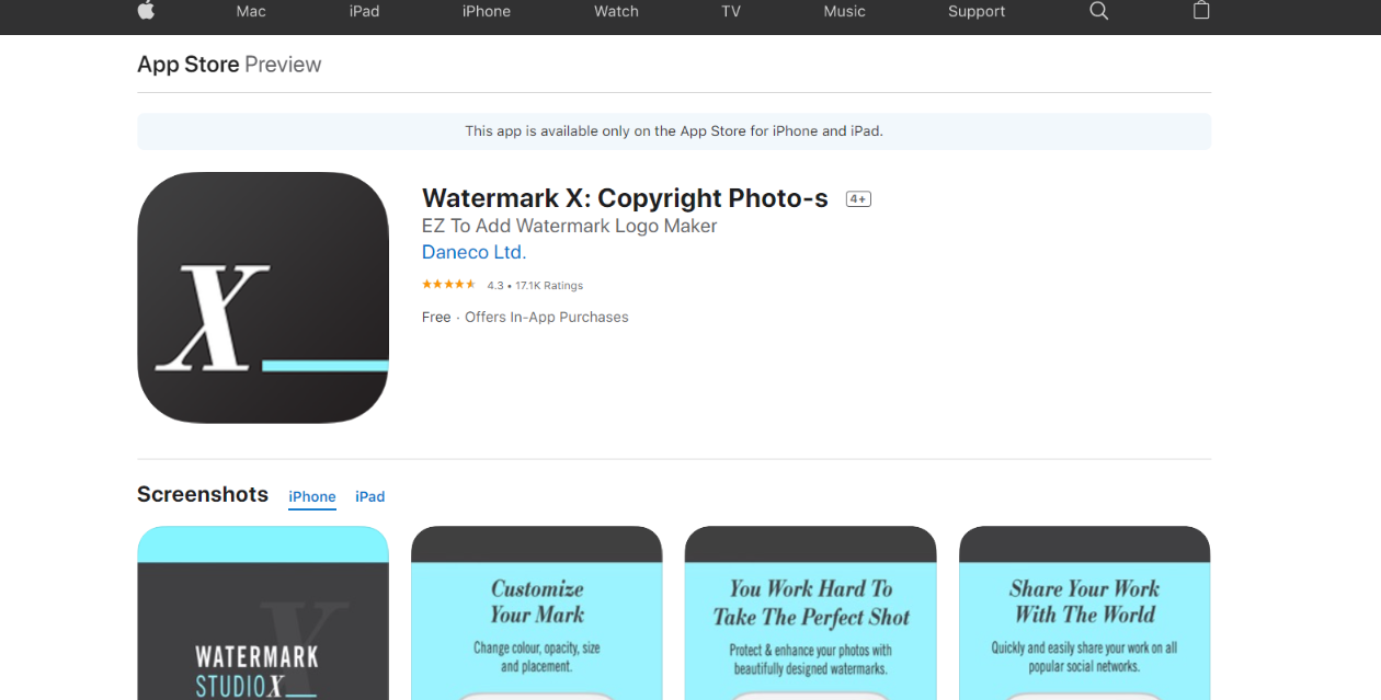Watermark X: Watermark app