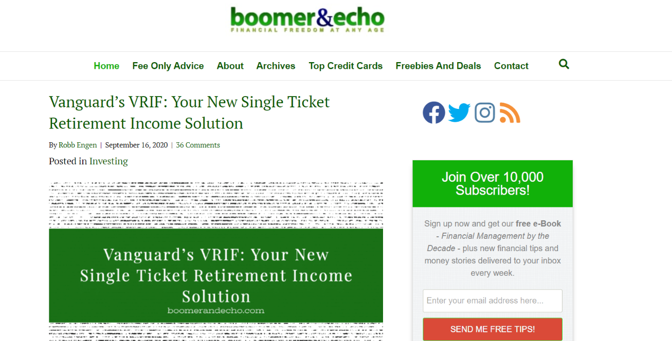 Boomer and echo: Personal finance blog