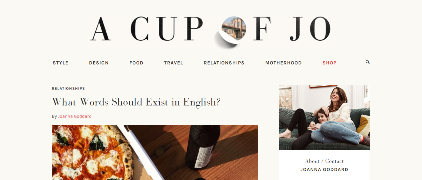 A cup of jo: Mommy blog