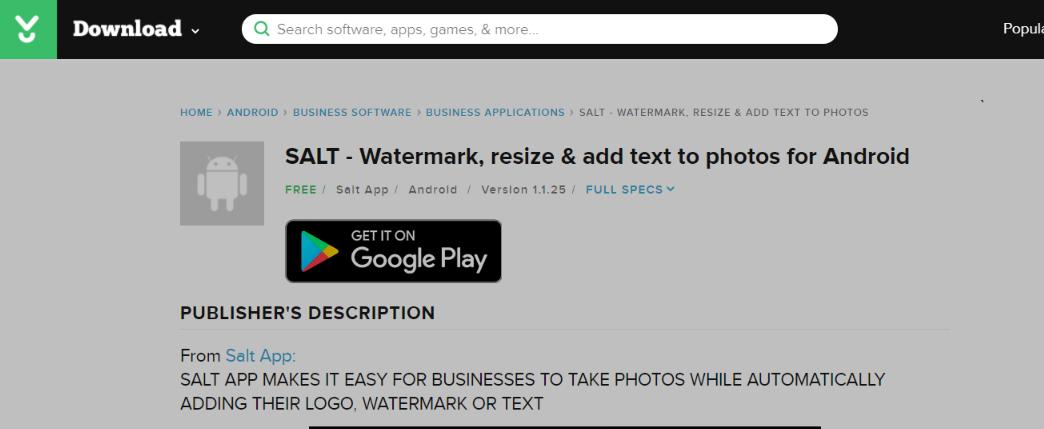 Salt: Watermark app