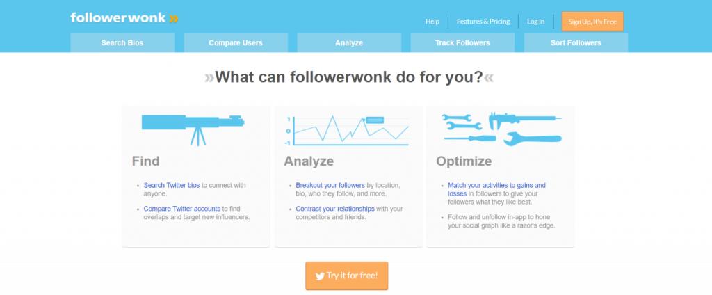 Followerwonk: Social media automation tool