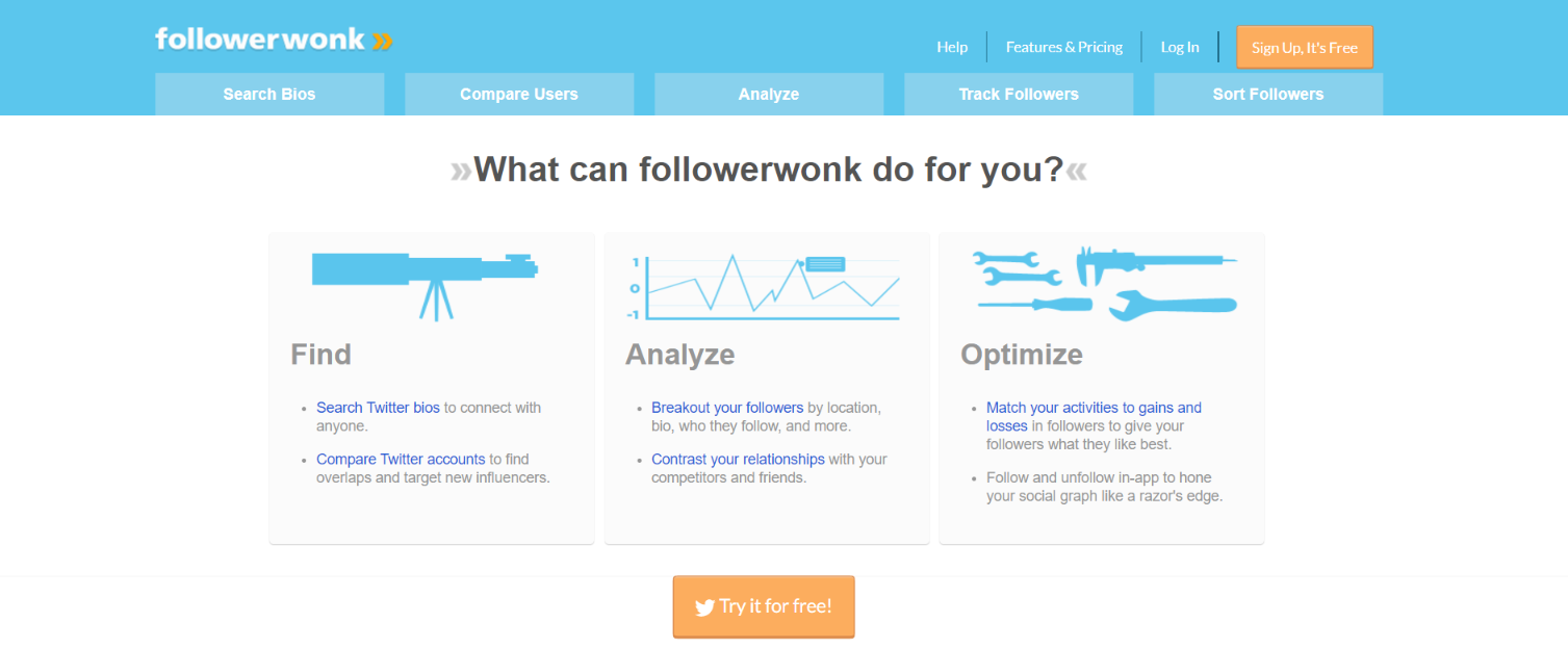 Followerwonk: Social media automation tool