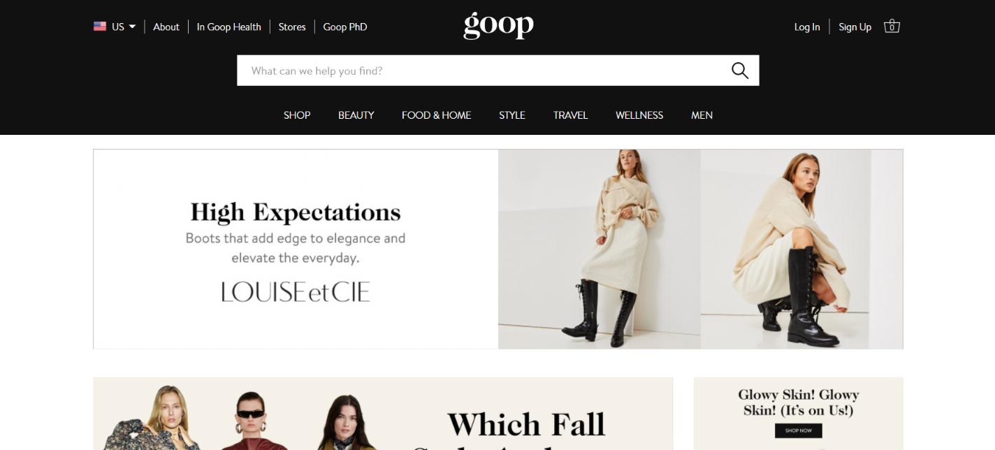 Goop: Lifestyle blog