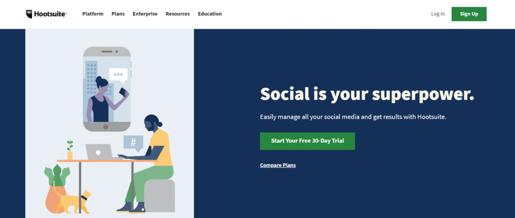 Hootsuite: Social media automation tool
