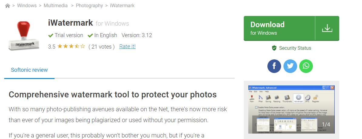iWatermark: Watermark app