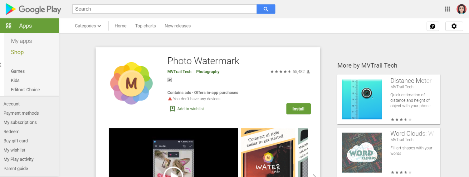 Photo Watermark: Watermark app