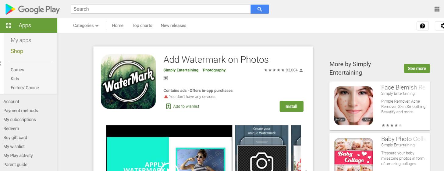Add Watermark On Photos: Watermark app