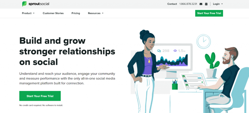 Sprout social: Social media automation tool