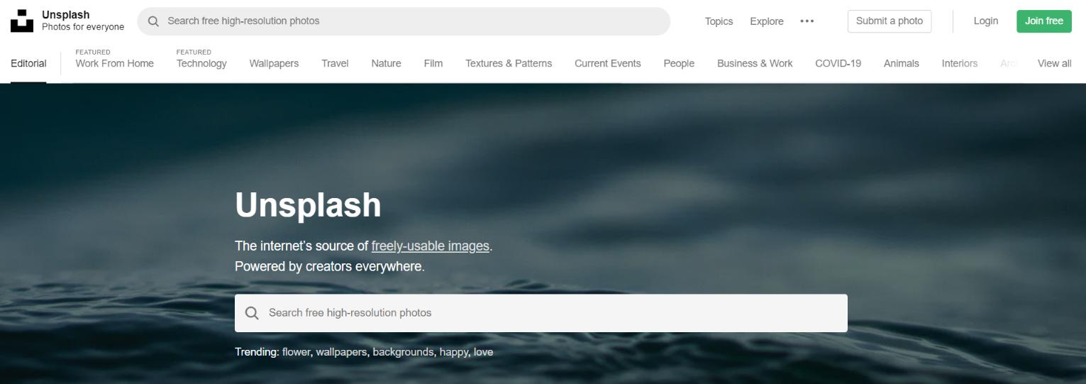 Unsplash: Tool for blogging