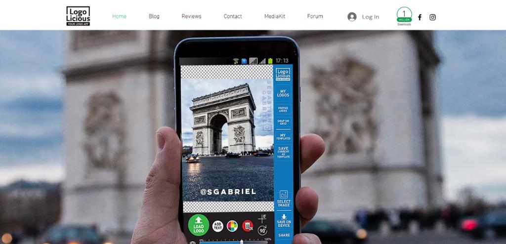 Logolicious: Watermark app