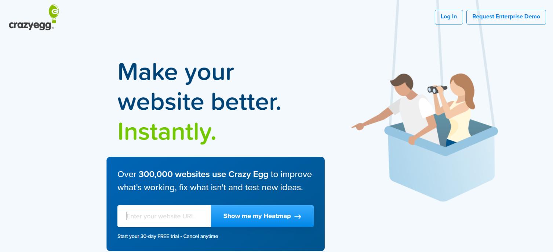 Crazy egg: Tool for blogging