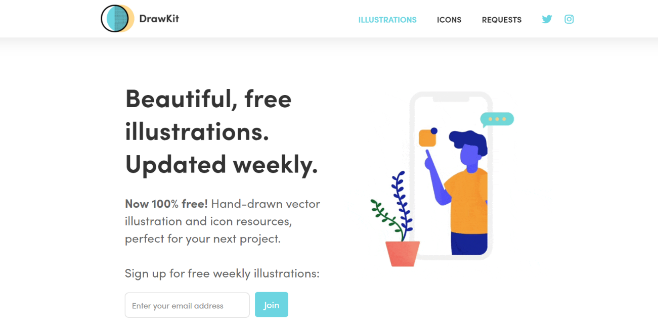 Drawkit: Free illustrations