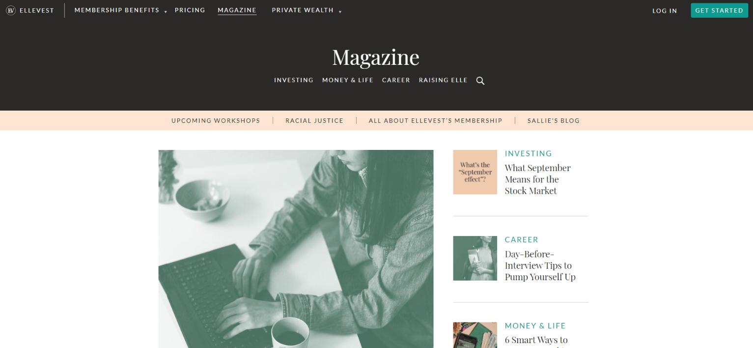 Ellevest: Personal finance blog