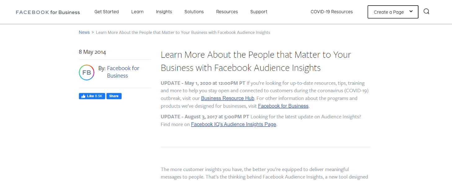 Facebook audience insights: Tool for blogging
